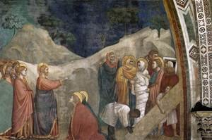 Reproduction oil paintings - Giotto Di Bondone - Scenes from the Life of Mary Magdalene- Raising of Lazarus 1320s