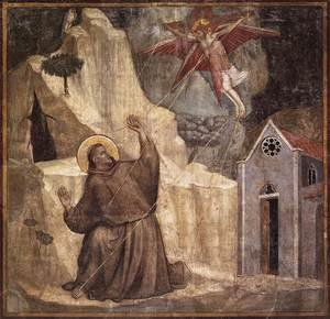 Reproduction oil paintings - Giotto Di Bondone - Scenes from the Life of Saint Francis- 1. Stigmatisation of Saint Francis 1325