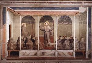 Reproduction oil paintings - Giotto Di Bondone - Scenes from the Life of Saint Francis- 3. Apparition at Arles 1325