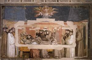 Reproduction oil paintings - Giotto Di Bondone - Scenes from the Life of Saint Francis- 4. Death and Ascension of St Francis c. 1325