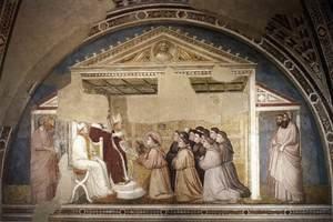 Reproduction oil paintings - Giotto Di Bondone - Scenes from the Life of Saint Francis- 5. Confirmation of the Rule 1325