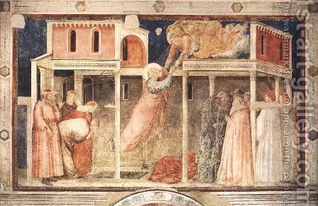 Giotto Di Bondone: Scenes from the Life of St John the Evangelist- 3. Ascension of the Evangelist 1320 - reproduction oil painting