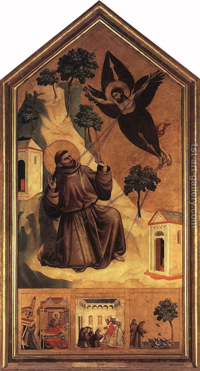 Huge version of Stigmatization of St Francis 1300