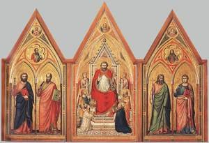 Reproduction oil paintings - Giotto Di Bondone - The Stefaneschi Triptych (verso) (2) c. 1330
