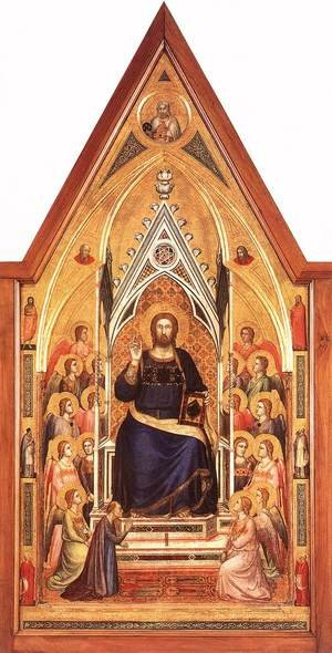 Reproduction oil paintings - Giotto Di Bondone - The Stefaneschi Triptych- Christ Enthroned c. 1330