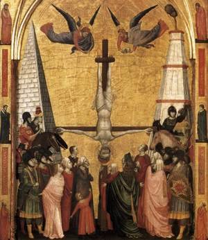Reproduction oil paintings - Giotto Di Bondone - The Stefaneschi Triptych- Martyrdom of Peter c. 1330