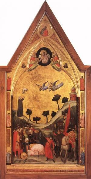 Reproduction oil paintings - Giotto Di Bondone - The Stefaneschi Triptych- Martyrdom of St Paul c. 1330