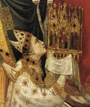 Reproduction oil paintings - Giotto Di Bondone - The Stefaneschi Triptych- St Peter Enthroned (detail) c. 1330