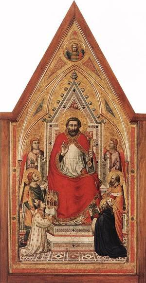 Reproduction oil paintings - Giotto Di Bondone - The Stefaneschi Triptych- St Peter Enthroned c. 1330