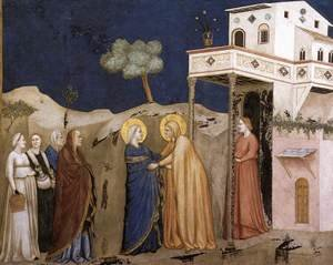 Reproduction oil paintings - Giotto Di Bondone - The Visitation 1310s