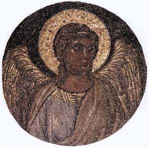 Reproduction oil paintings - Giotto Di Bondone - Tondo with Angel c. 1310 (Mosaic)