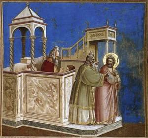 Reproduction oil paintings - Giotto Di Bondone - No. 1 Scenes from the Life of Joachim- 1. Rejection of Joachim's Sacrifice