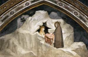 Reproduction oil paintings - Giotto Di Bondone - Scenes from the Life of Mary Magdalene- The Hermit Zosimus Giving a Cloak to Magdalene 1320