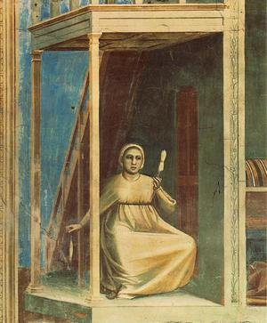 Reproduction oil paintings - Giotto Di Bondone - No. 3 Scenes from the Life of Joachim- 3. Annunciation to St Anne (detail) 1304