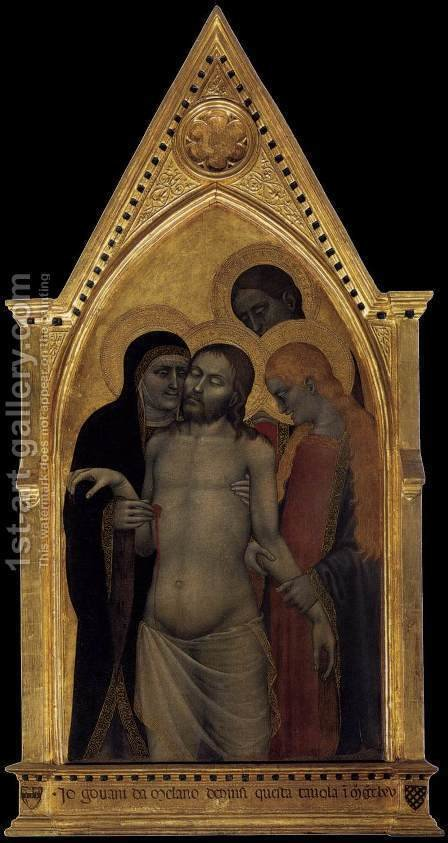 Pieta 1365 by Giovanni Da Milano - Reproduction Oil Painting