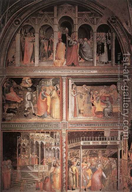 Scenes from the Life of the Virgin 1365 by Giovanni Da Milano - Reproduction Oil Painting
