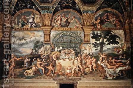 Banquet of Cupid and Psyche 1527-30 by Giulio Romano (Orbetto) - Reproduction Oil Painting