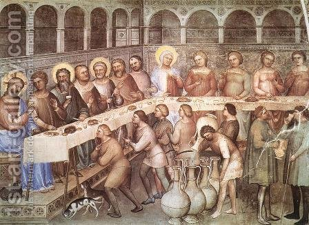 Marriage at Cana 1376-78 by Giusto di Giovanni de' Menabuoi - Reproduction Oil Painting