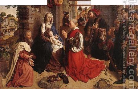 Monforte Altarpiece c. 1470 by Hugo Van Der Goes - Reproduction Oil Painting