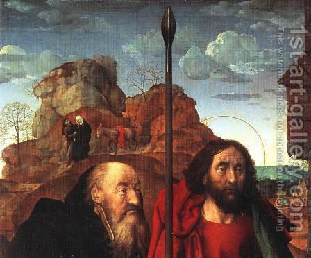Sts. Anthony and Thomas with Tommaso Portinari (detail) 1476-79 by Hugo Van Der Goes - Reproduction Oil Painting