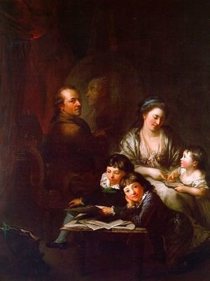 Famous Paintings Of Family The Artists Before Portrait Johann Georg Sulzer 1785