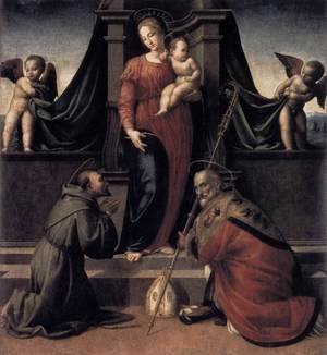 Francesco Granacci reproductions - Virgin and Child with Sts Francis and Zenobius c. 1515