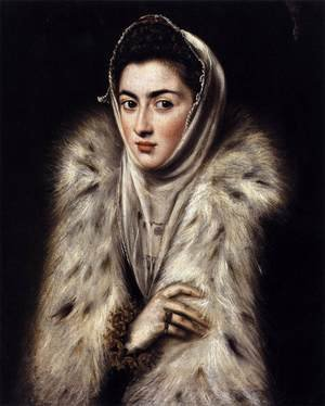 Mannerism painting reproductions: A Lady in a Fur Wrap 1577-80