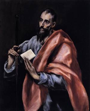 Mannerism painting reproductions: Apostle St Paul 1610-14