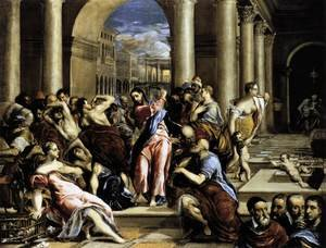 Mannerism painting reproductions: The Purification of the Temple 1571-76