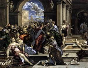 Mannerism painting reproductions: The Purification of the Temple c. 1570