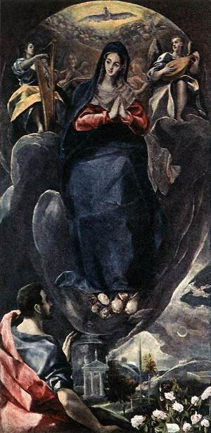 Mannerism painting reproductions: The Virgin of the Immaculate Conception and St John c. 1585