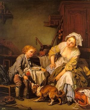 Rococo painting reproductions: The Spoiled Child  1765