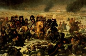 Napoleon Bonaparte on the Battlefield of Eylau 1807,  1808
