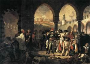 Napoleon Bonaparte Visiting the Plague-stricken at Jaffa 1799