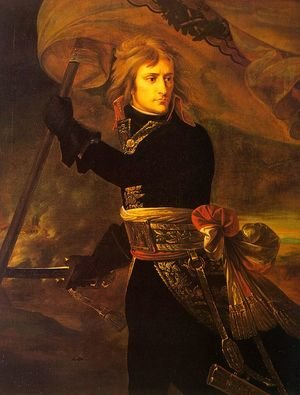 Napoleon Bonaparte on Arcole Bridge on 17 November 1796