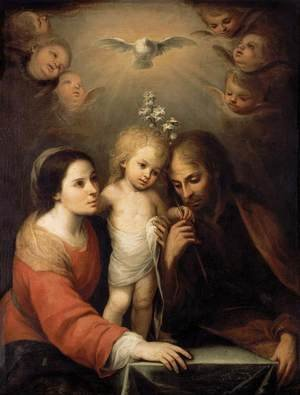 Famous paintings of The Holy Family: The Holy Family