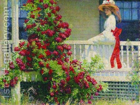 The Crimson Rambler  1908 by Philip Leslie Hale - Reproduction Oil Painting