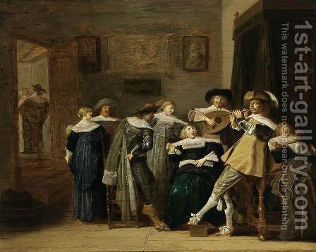 An Elegant Company Playing Music 1637