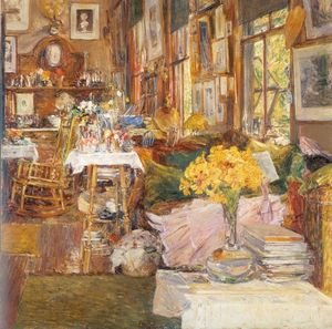 Famous paintings of Furniture: The Room of Flowers 1894