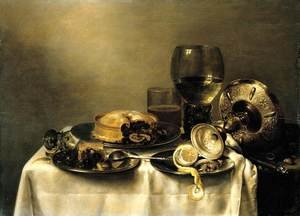 Famous paintings of Desserts: Still-Life (2) 1632