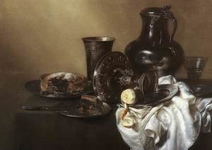 Famous paintings of Desserts: Still-life c. 1636