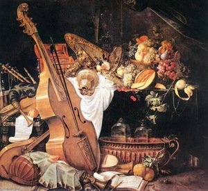 Vanitas Still-Life with Musical Instruments, 1661