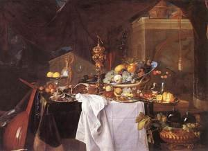 Jan Davidsz. De Heem reproductions - A Table of Desserts 1640