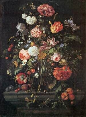 Reproduction oil paintings - Jan Davidsz. De Heem - Flowers in Glass and Fruits