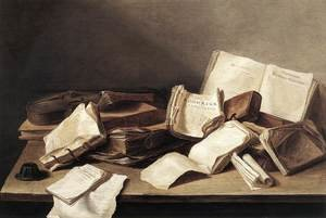 Reproduction oil paintings - Jan Davidsz. De Heem - Still-Life of Books 1628