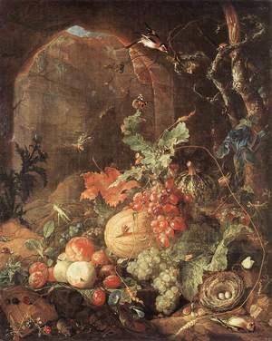 Reproduction oil paintings - Jan Davidsz. De Heem - Still-life with Bird-nest