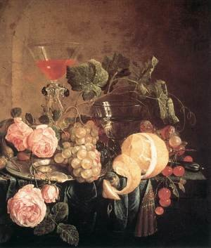 Reproduction oil paintings - Jan Davidsz. De Heem - Still-Life with Flowers and Fruit c. 1650