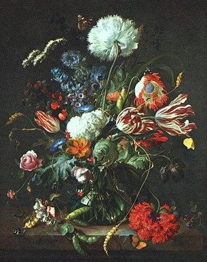 Reproduction oil paintings - Jan Davidsz. De Heem - Vase of Flowers c. 1645