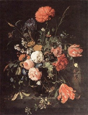 Reproduction oil paintings - Jan Davidsz. De Heem - Vase of Flowers
