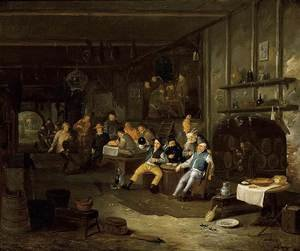 Famous paintings of Taverns: Interior of an Inn